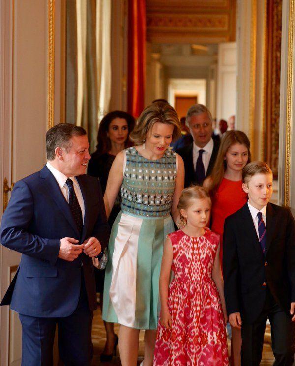 Reyes de Bélgica y de Jordania
