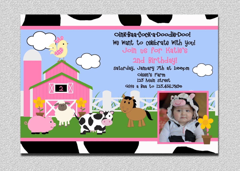 Farm Barnyard Birthday Invitation Farm By Thetrendybutterfly