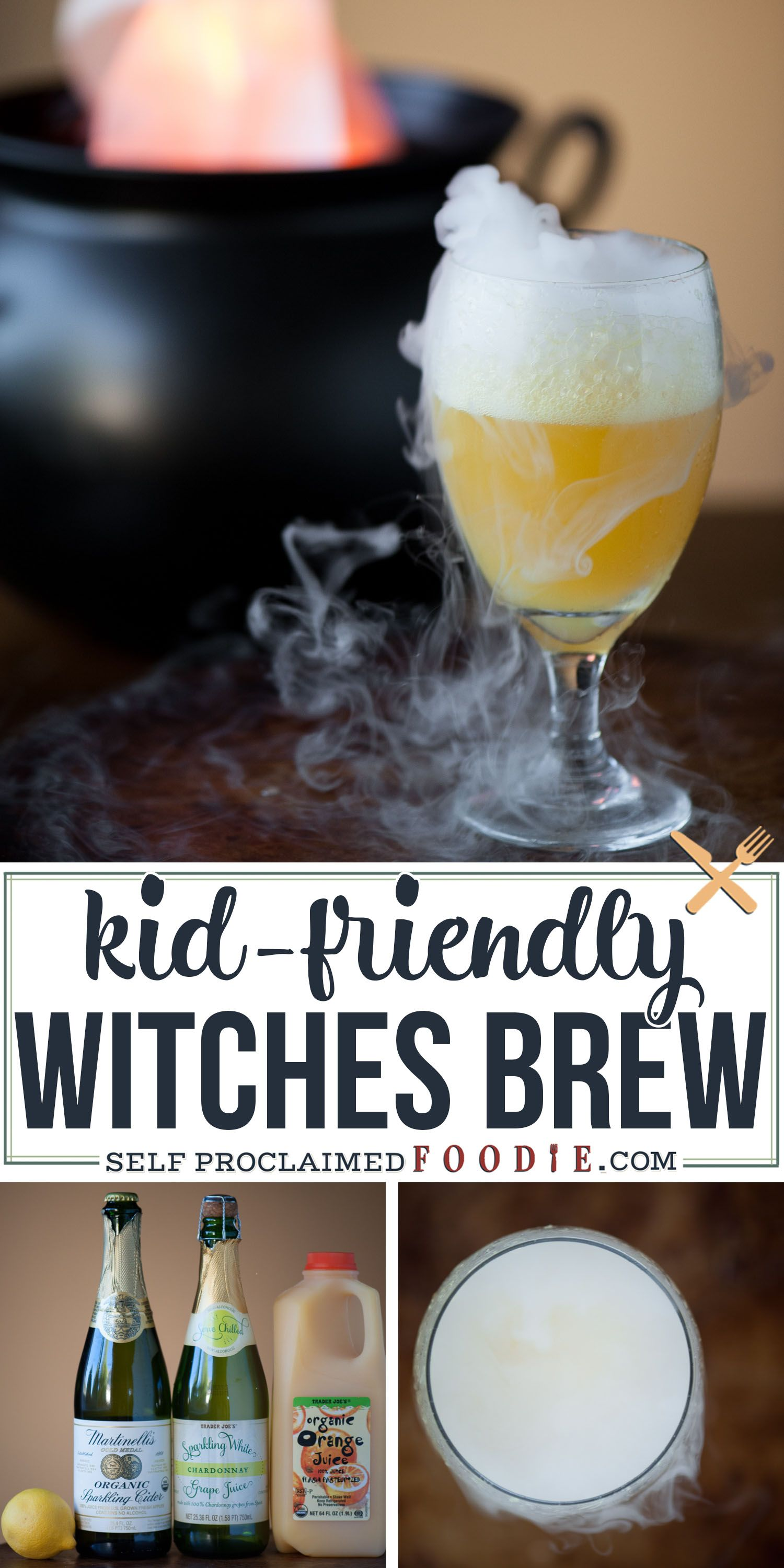 This sweet and sparkling Halloween Witches' Brew made with
