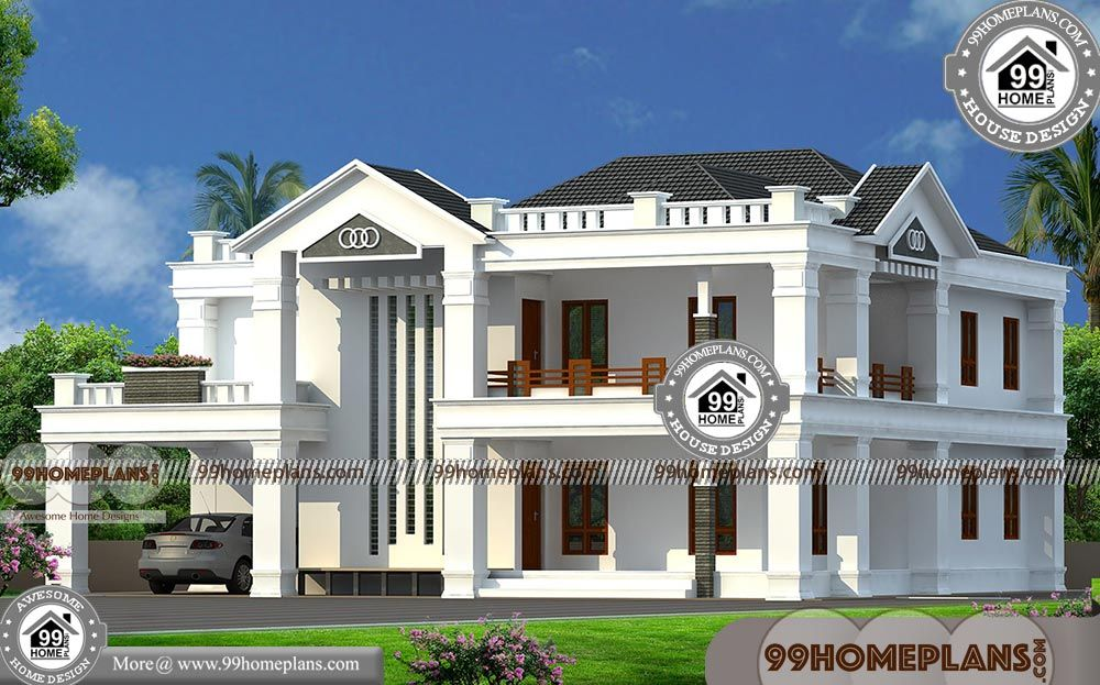 Indian Style Double Story Bungalow Design Plan Collections Low Cost Auspicious Home Models I Bungalow Design House Designs Exterior Mansion Interior Design