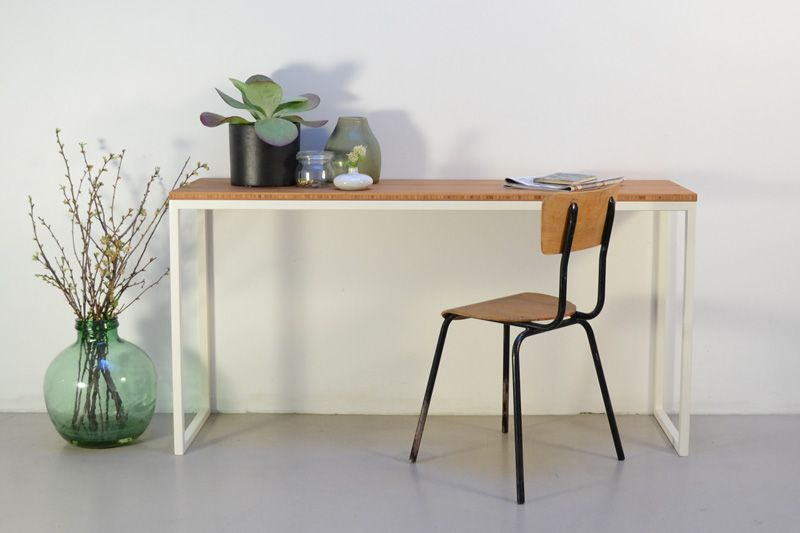 Commode bamboe tafel bamboe staal tafels minimalist