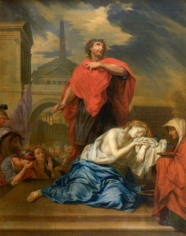 Charles Le Brun Le Sacrifice De Jephte Vers 1665 Florence Musee Des Offices