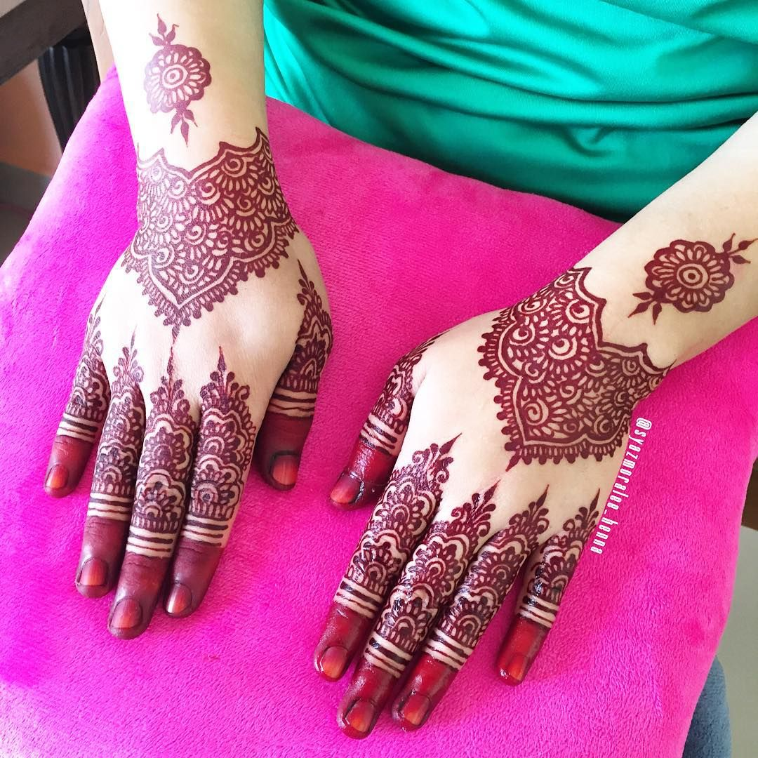 Malay wedding henna/mahendi. Simple bridal mahendi | He ...