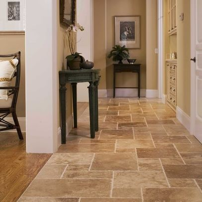 Tile Transitioning To Wood Floor Great Belend Of Color Pallette San Francisco Hall Photos Subw Kitchen Floor Tile Patterns House Flooring Floor Tile Design