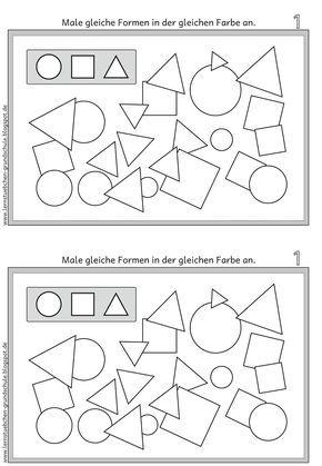 Lernstübchen: GEO Formen gleich anmalen | Unterricht | Pinterest ...