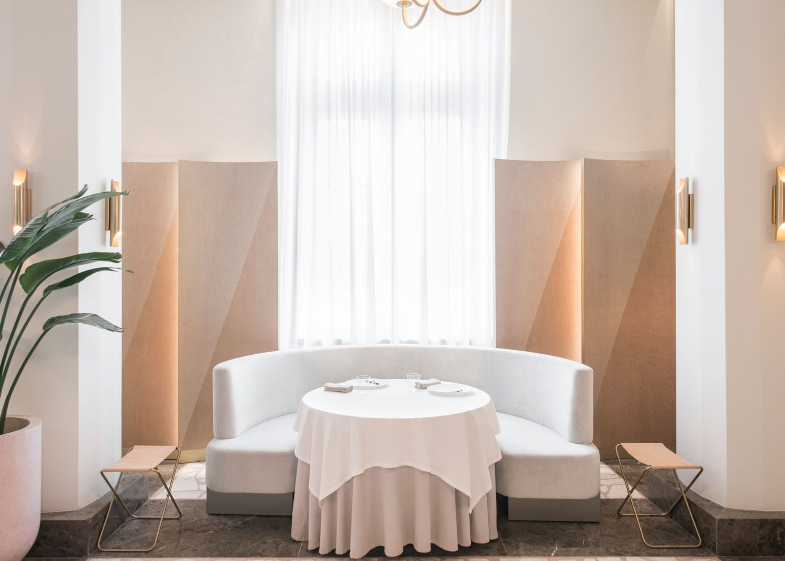 Universal Design Studio creates pink interior for Odette | Dining ...