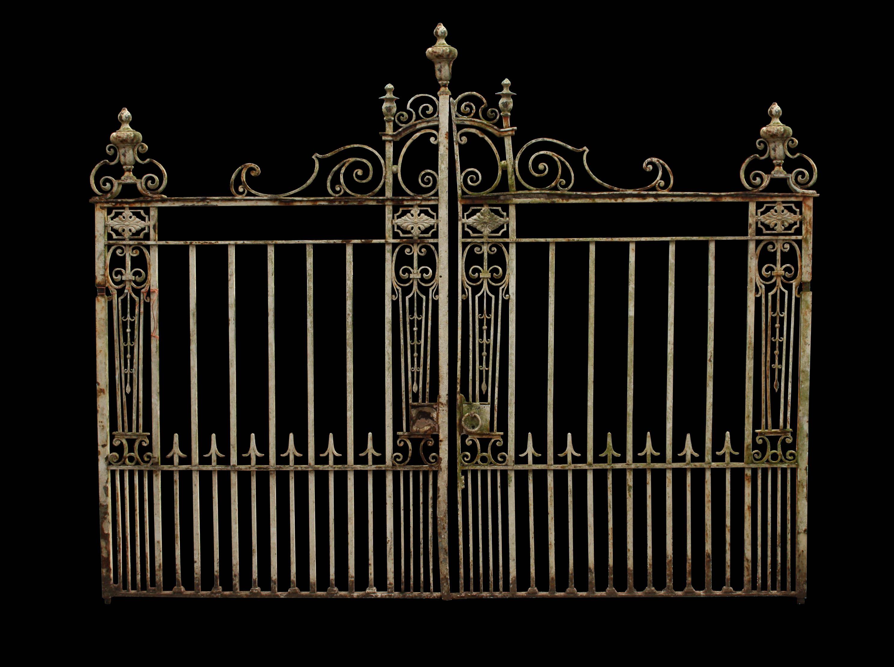 Superb Set Of 19th Century Wrought Iron Driveway Gates Uk Heritage Serralheria