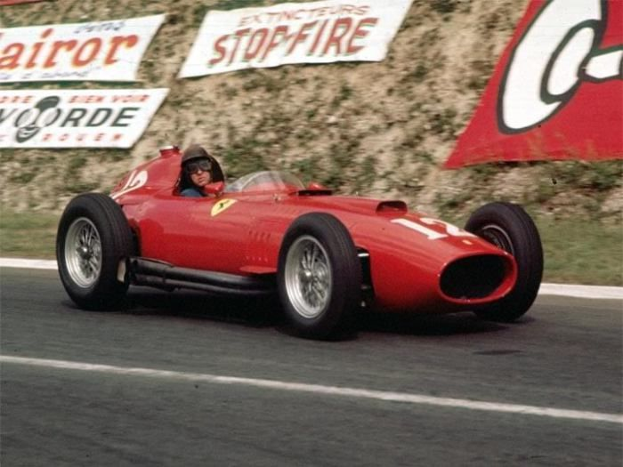 Peter Collins, Ferrari, French GP, 1957.