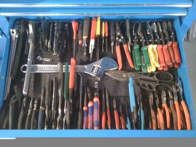 pliers rack before and after page 2 the garage journal board tool boxes pinterest. Black Bedroom Furniture Sets. Home Design Ideas