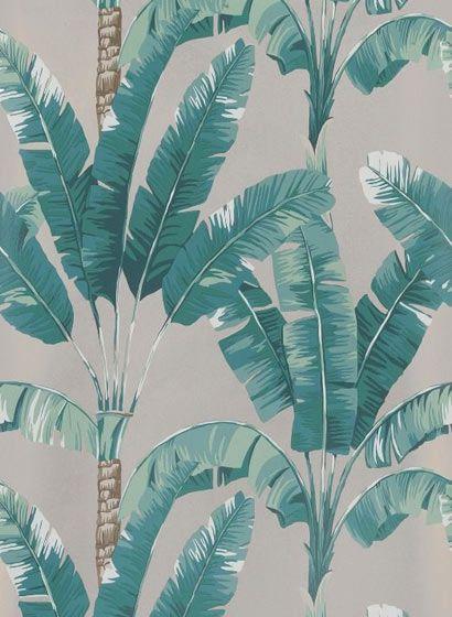 Palmen Tapete Palmaria von Osborne & Little - Gilver/ Mint-3594.1 ...