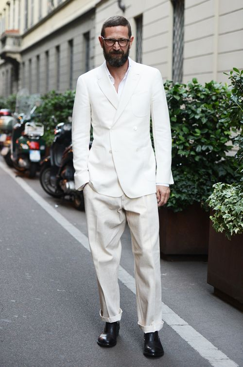 white casual suit | Fashion Design Men | Pinterest | White suits ...