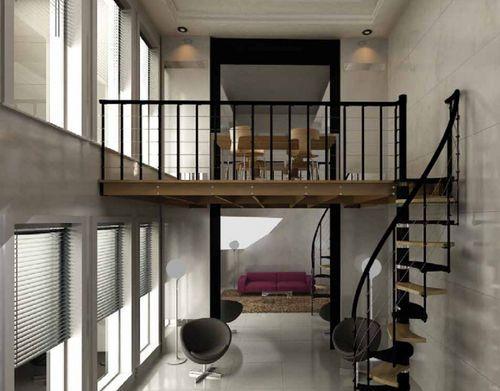 garde corps m tallique en c ble de mezzanine d 39 int rieur rintal mezzanine pinterest. Black Bedroom Furniture Sets. Home Design Ideas