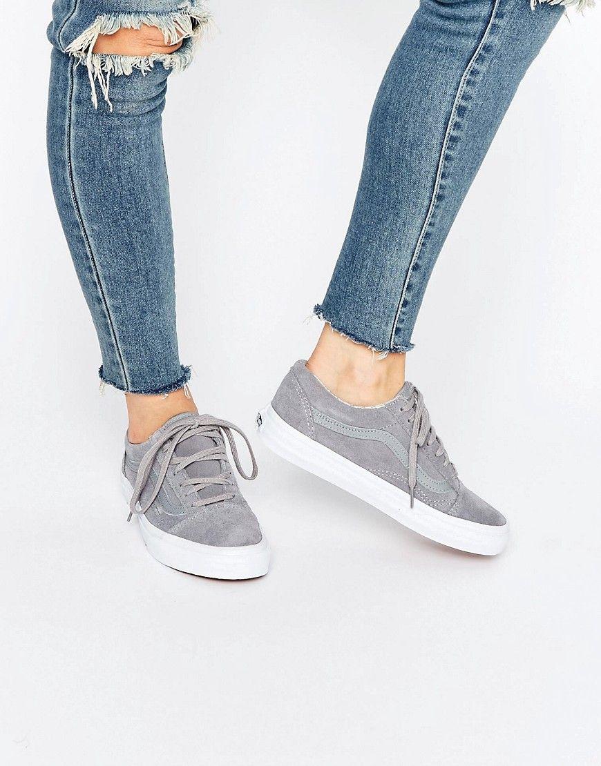 Zapatillas de deporte de ante unisex en color crema Old Skool de Vans mqX1Z
