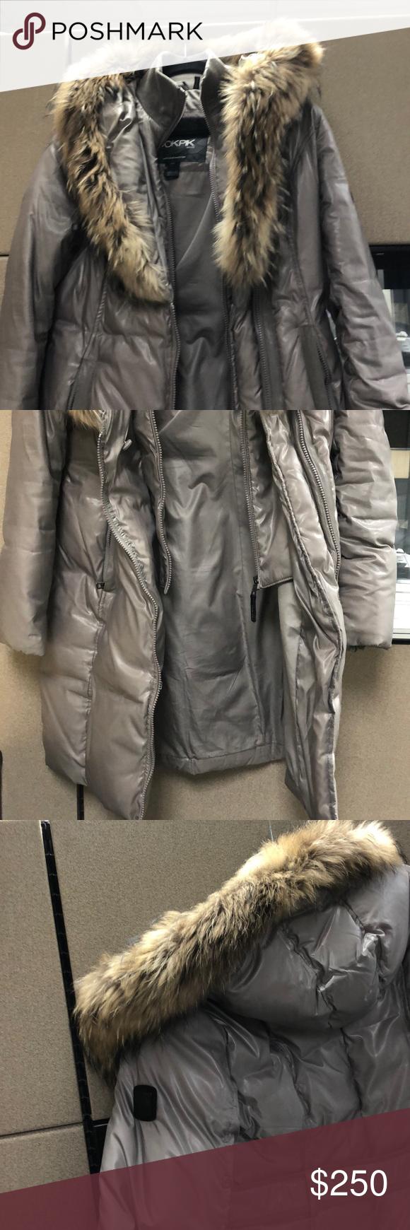Ookpik Light Grey Down Coat in 2020 Down coat, Jackets