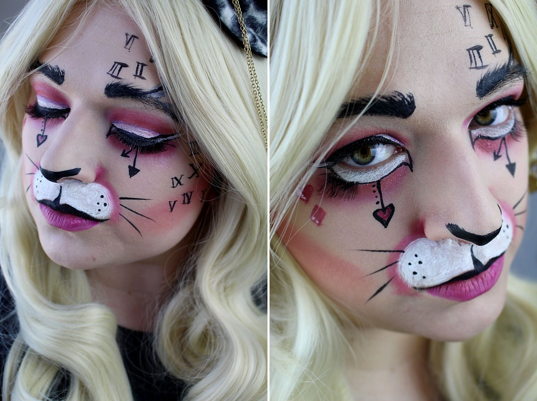 white rabbit make up alice in wonderland #makeup #aliceinwonderland