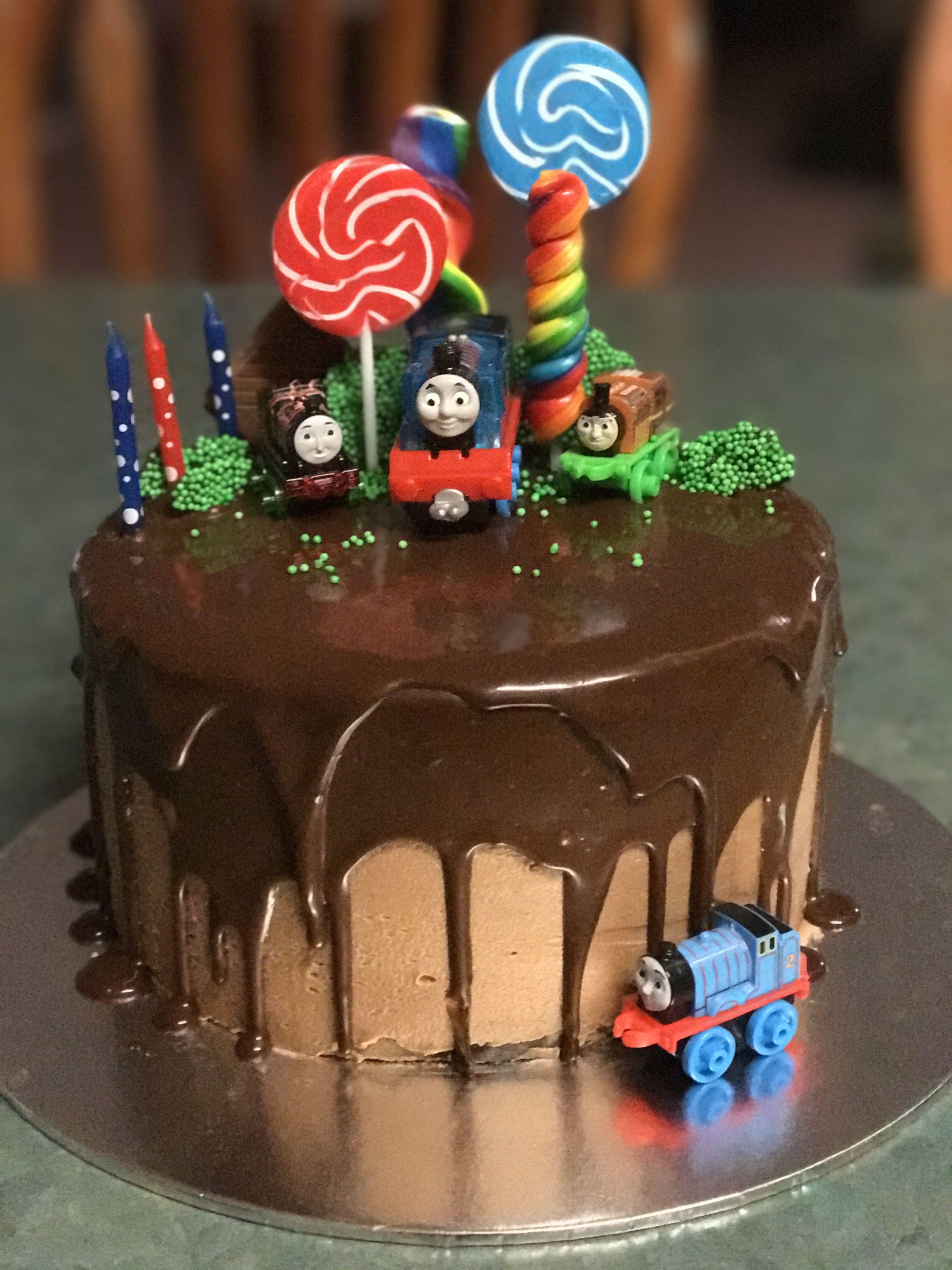 Thomas The Tank Engine Drip Cake