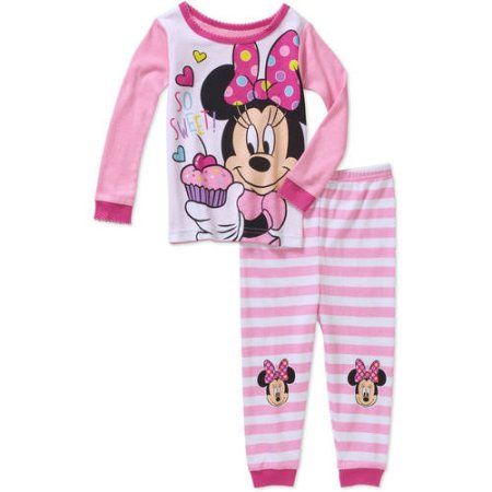c91f9e66f Minnie Mouse Newborn Baby Girl So Sweet Cotton Tight Fit Pajamas 2pc ...
