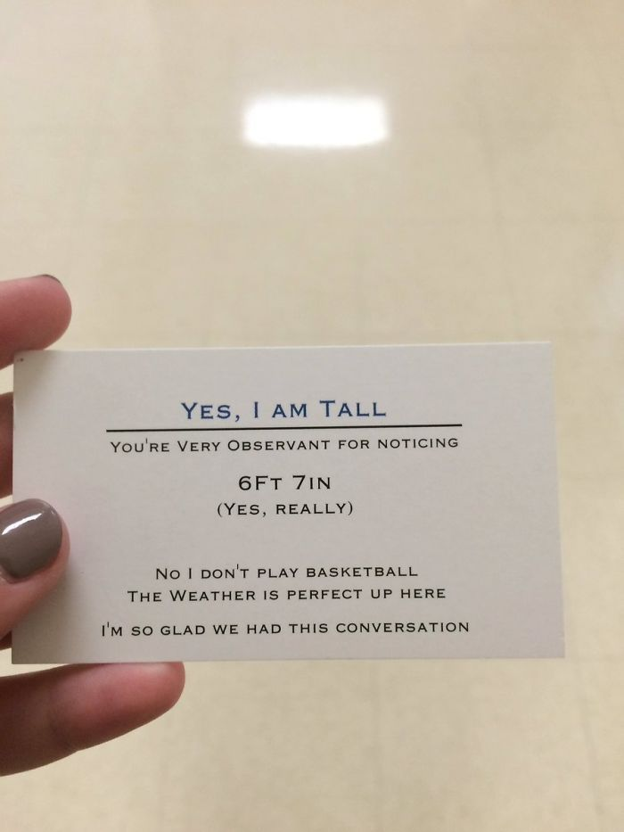 Super Tall Teenager Is Handing Out Business Cards To People Who Won't Stop Asking About His Height | Bored Panda
