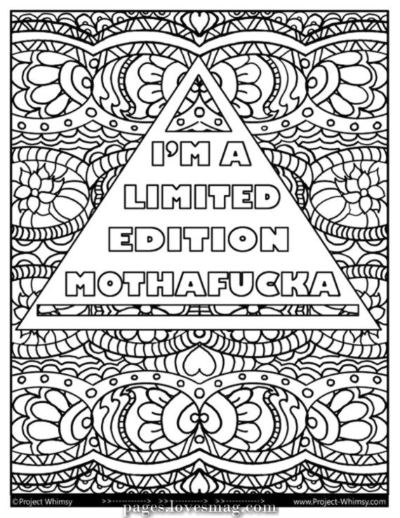 Beautiful Im a coloring web page Mothaf * cka restricted version - Digital obtain - Coloring ...