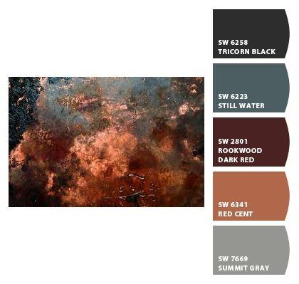 I Just Spotted The Perfect Colors Brown Color Schemes Rust Color Schemes Copper Colour Palette