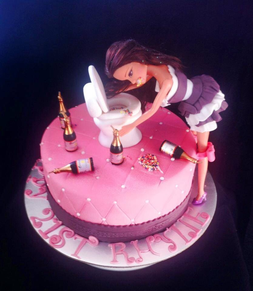 22nd Birthday Cake Designs: Drunk Barbie Cake