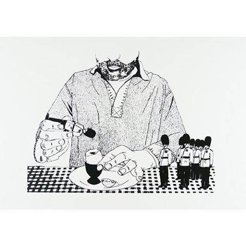 Starting the day right with Claudia Borfiga's 'Egg & Soldiers' Only £40 and available from our online gallery! #humpday #printclublondon #claudiaborfiga