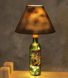 22 smart and creative recycle wine bottle crafts idea in simple 22 smart and creative recycle wine bottle crafts idea in simple table lamp holder aloadofball Choice Image