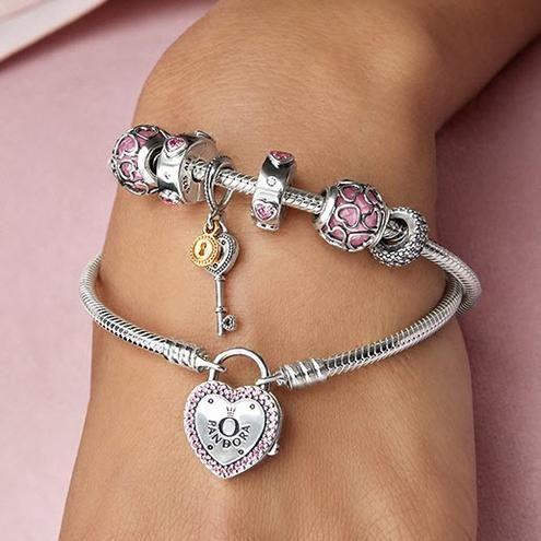 80b40f321 Lock Your Promise Bracelet, Fancy Fuchsia Pink & Clear CZ | | Cool ...