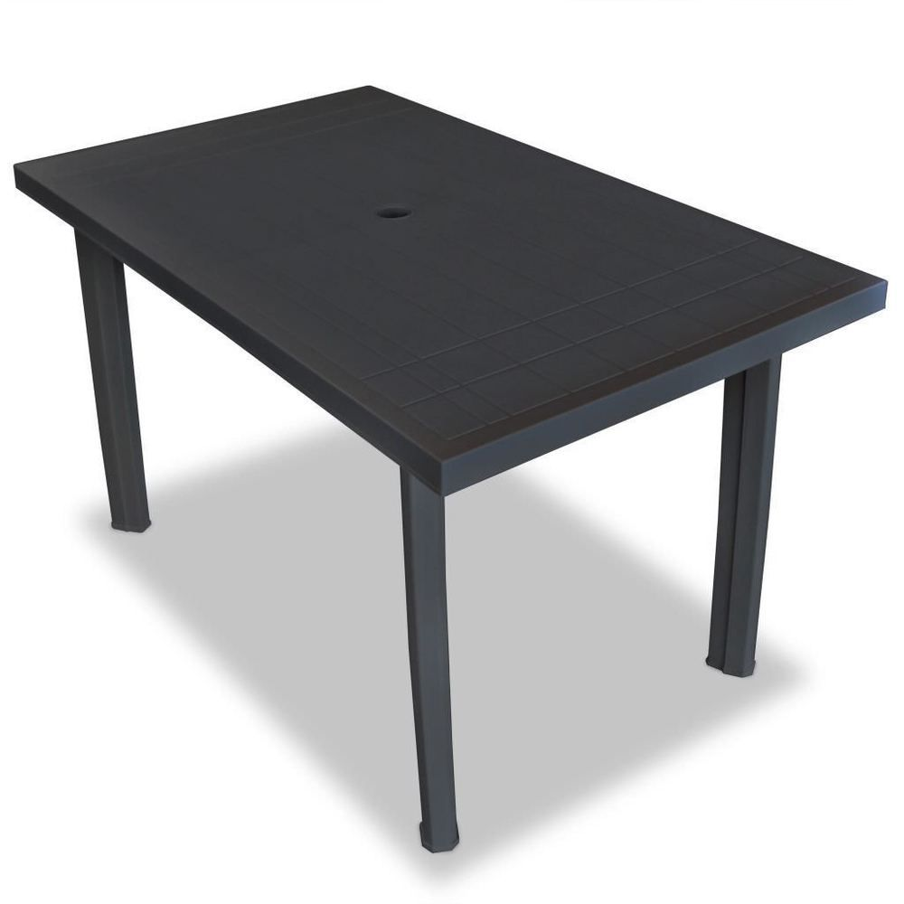 Plastic Garden Table Anthracite Colour Rectangular Outdoor