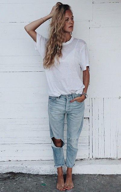 7dfa7ccd2b white tee + boyfriend jeans