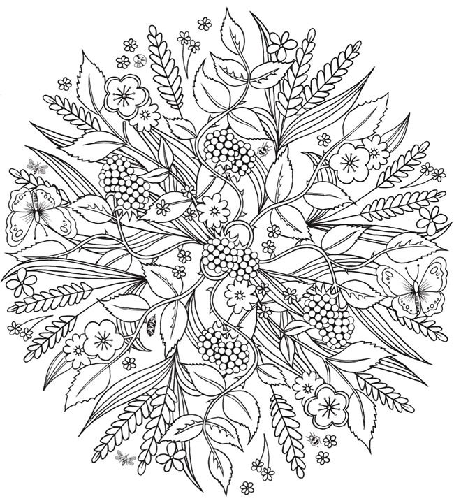 Creative Haven Wondrous Nature Mandalas A Coloring Book With A