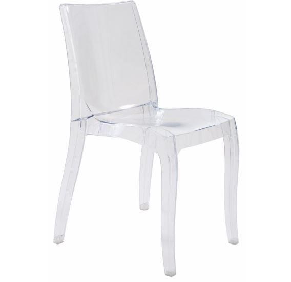 Chaise Cristal Transparent Plastique