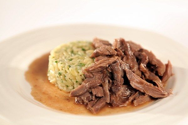 Braised Lamb Shanks with Orzo