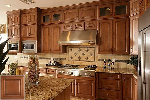 The ABC's of - honey oak cabinets with white countertops ...