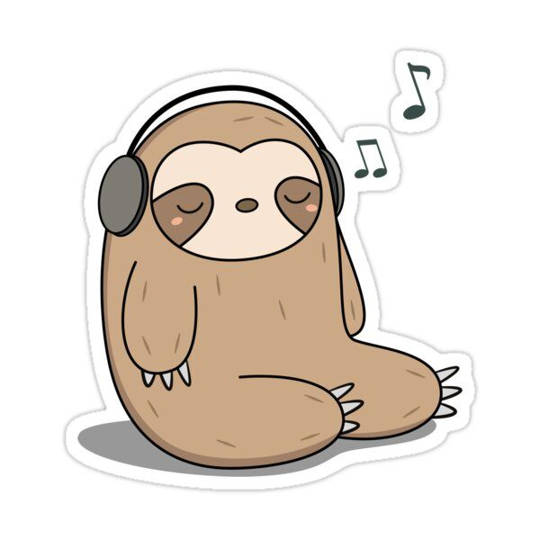 Sloth Stack By Saradaboru Cute Stickers Sloth Cute Sloth