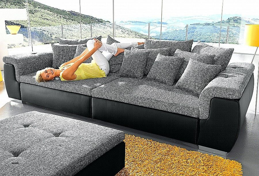 Big Sofa Grau L Form