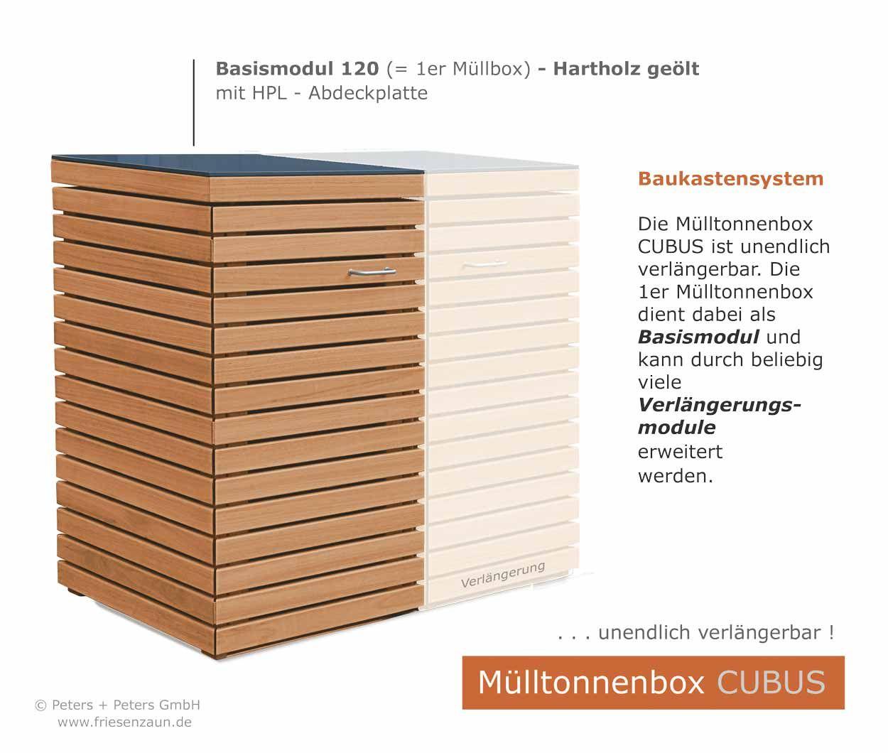 3er m lltonnenbox swalif. Black Bedroom Furniture Sets. Home Design Ideas