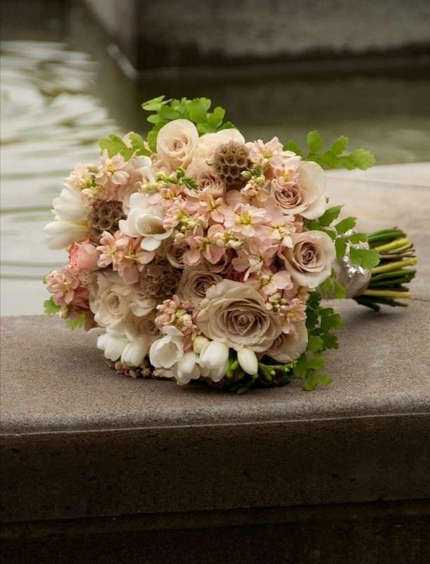 blush tan champagne mocha colored bouquet | my wedding 7/11/14 ...