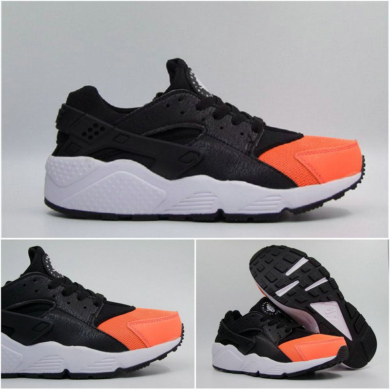 de4ee0d588e4c Best Modem Huaraches 2016 Latest Running Shoes Girls Nike Air Huarache  Black Orange 36-40 Korea