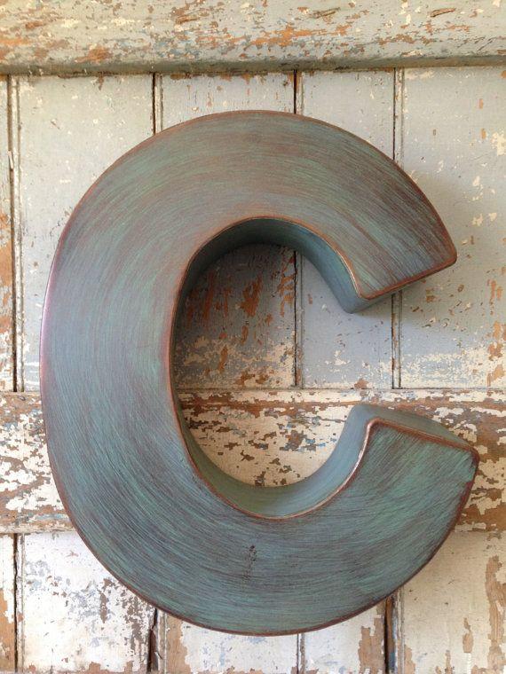 Large Metal Letter C Industrial Metal Large Letter C On Etsy $9800  Letter C