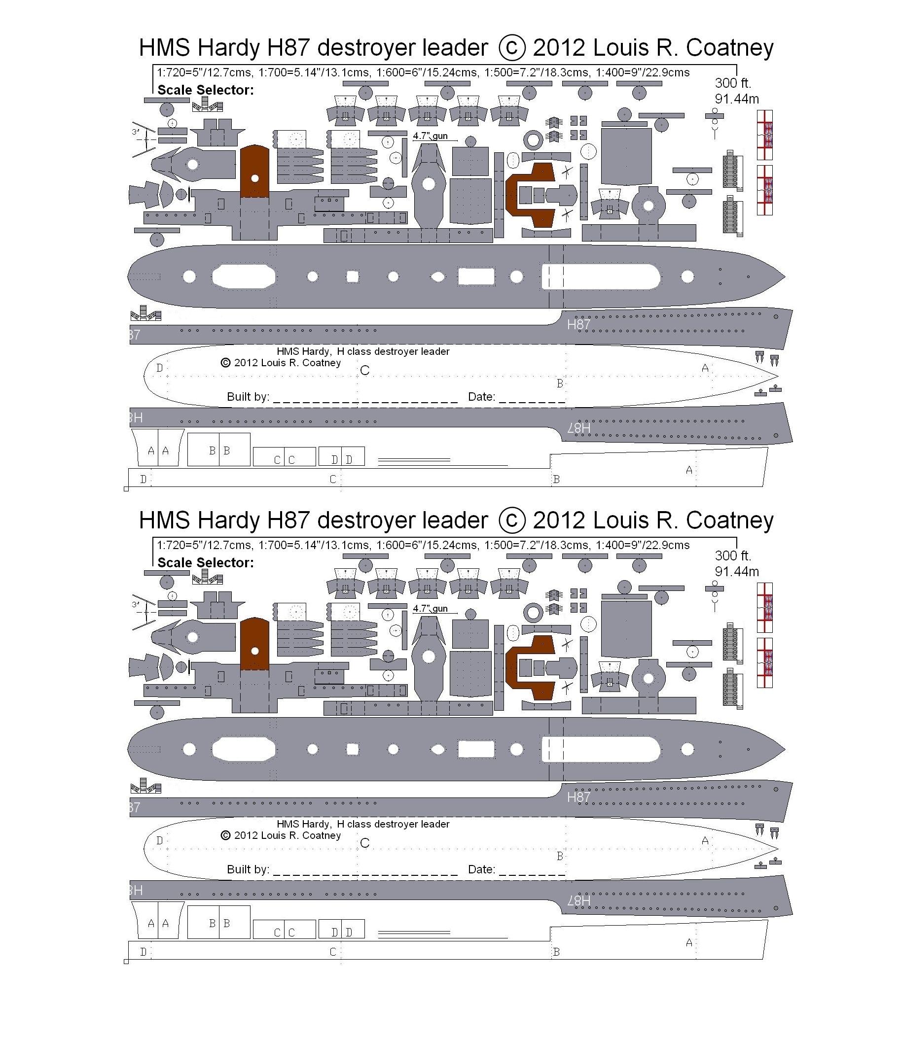 Http Www Coatneyhistory Com Hardydlshadedjpg Jpg Paper Models Paper Cutout Model Ships