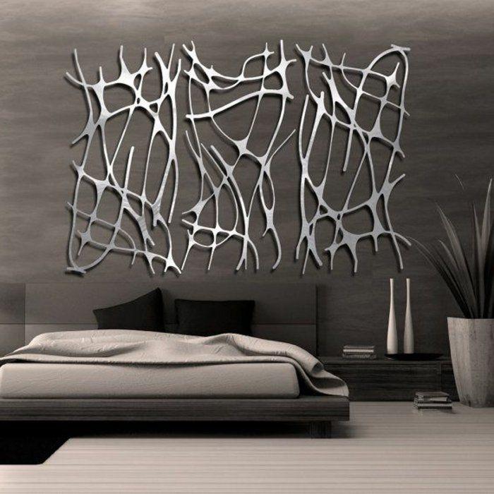 Décoration murale en métal chambre à coucher minimaliste