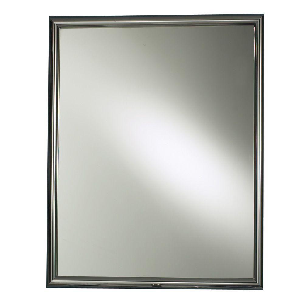 Harmony 24 In W X 30 In H X 5 875 In D Recessed Mirrored Medicine Cabinet In Chrome Bathroom Medicine Cabinet Medicine Cabinet Mirror Large Medicine Cabinet