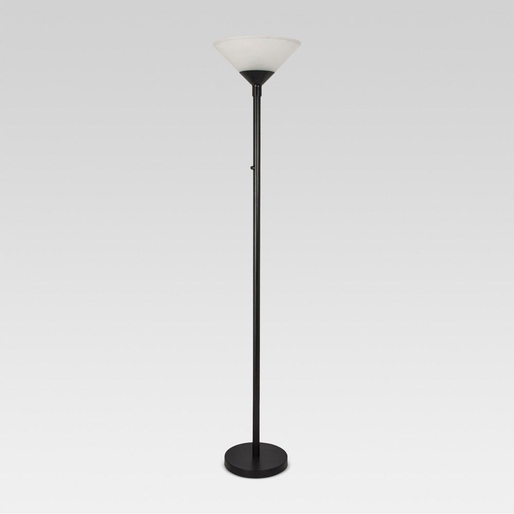 Torch Floor Lamp Black Lamp Only Threshold Oil Rubbed Bronze