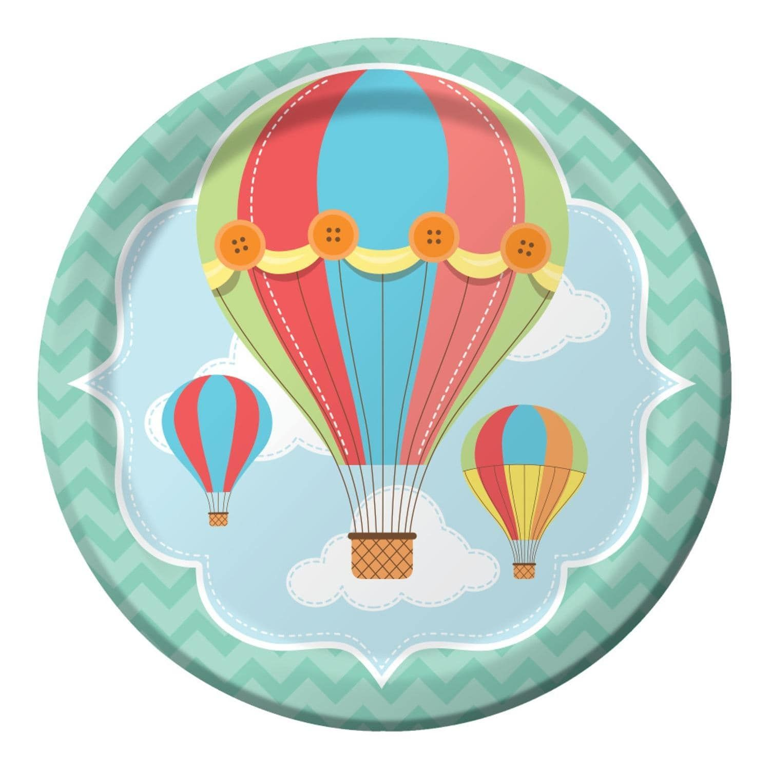 Club Pack of 96 Up, Up, & Away Hot Air Balloon Premium