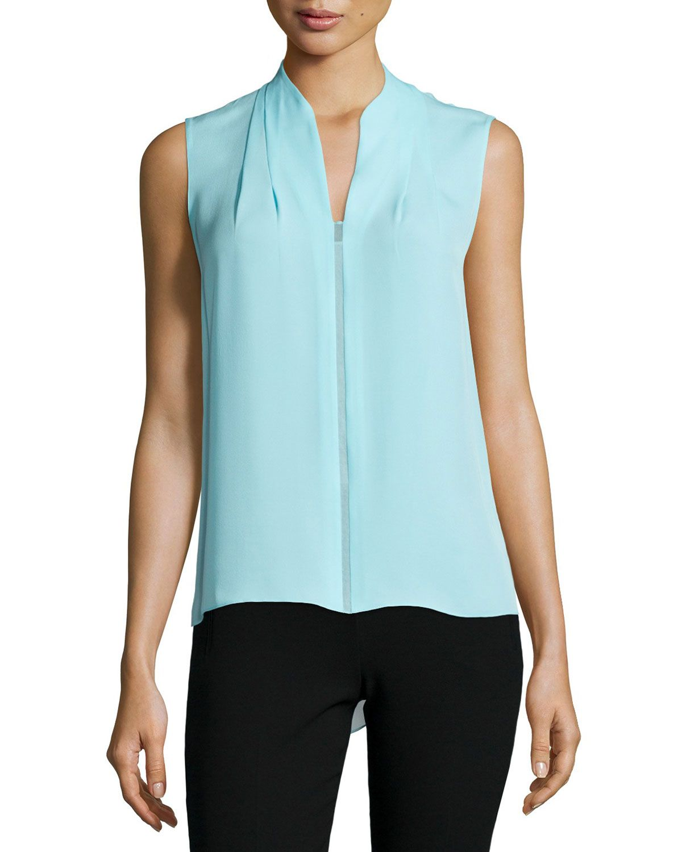 3af9cff5cee2ae Judith Sleeveless Asymmetric Blouse, Women's, Size: SMALL, Vietnam - Elie  Tahari