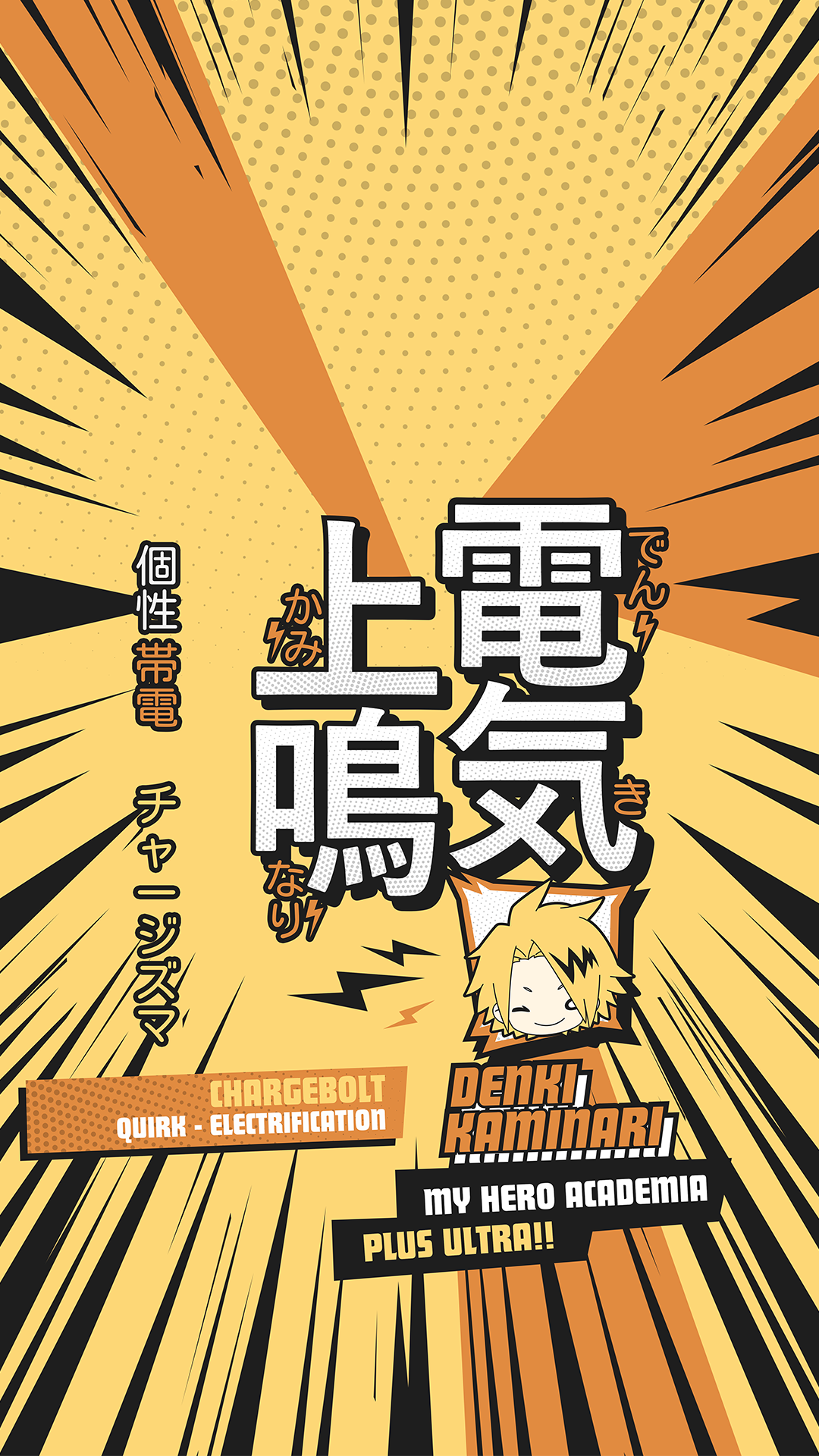 Chargebolt Wallpaper - Kaminari Denki Wallpaper - My Hero Academia