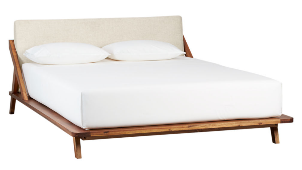 Drommen Acacia Wood California King Bed + Reviews Modern