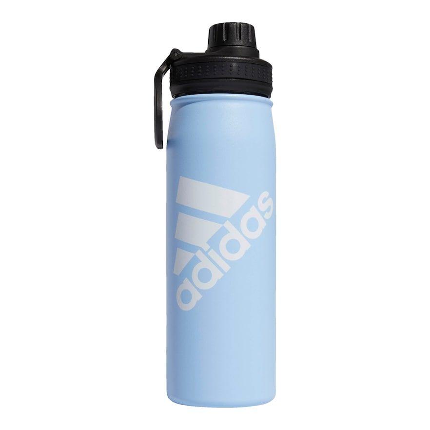 20Oz Sports Water Bottles 10 Pack Reusable No WHITE Bottle BLUE Lid 20 Ounces