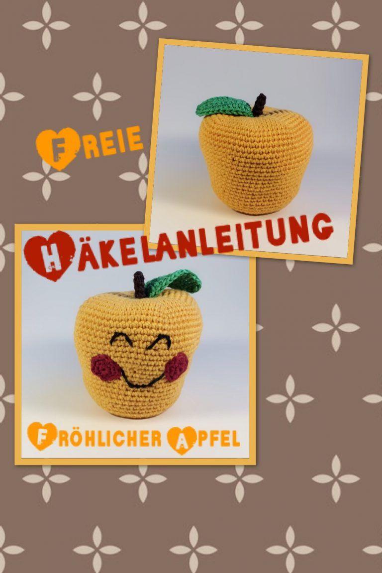 Freie Häkelanleitung Fröhlichen Apfel Häkeln Zum Flauschigen